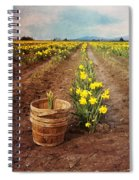 basket with Daffodils Spiral Notebook