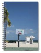 Basketball Goal On The Beach Spiral Notebook