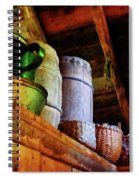 Baskets And Barrels In Attic Spiral Notebook
