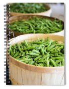 Baskets Of Fresh Picked Peas Spiral Notebook