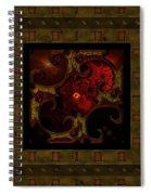 Basketweave Nine  Spiral Notebook