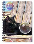 Basking In Bubbles Spiral Notebook