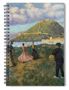 Basque Celebration. Dance At El Antiguo San Sebastian Spiral Notebook