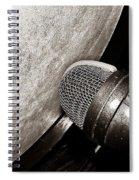 Bass Drum And Mic Spiral Notebook