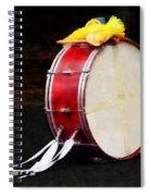 Bass Drum At Parade Spiral Notebook
