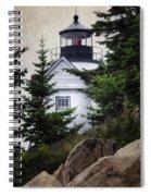 Bass Harbor Head Light Spiral Notebook
