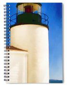 Bass Harbor Head Lighthouse Maine Spiral Notebook