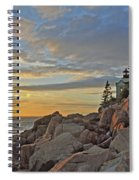 Bass Harbor Lighthouse Sunset Landscape Spiral Notebook