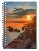 Bass Harbor Sunset Spiral Notebook