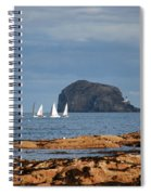 Bass Rock And Sail Boats Spiral Notebook