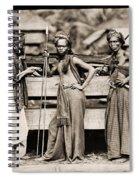 Batak Warriors In Indonesia 1870 Spiral Notebook