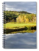 Bath Nh Autumn Panorama Spiral Notebook