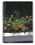 Bath Tub Flowers Spiral Notebook