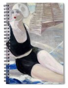 Bather In A Black Swimsuit Spiral Notebook