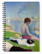 Bathers In Asnieres Spiral Notebook