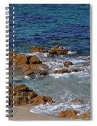 Bathing In The Sea - La Coruna Spiral Notebook