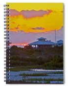 Bathouse Sunset Spiral Notebook