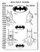 Batman Face Guard Spiral Notebook