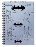 Batman Mask Patent Spiral Notebook