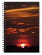 Baton Rouge Sizzling Sunday Sunset  Spiral Notebook