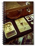 Battered Suitcase Of Antique Photographs Spiral Notebook