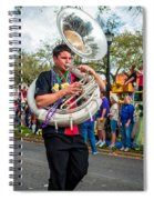 Battered Tuba Blues 3 Spiral Notebook
