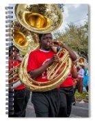 Battered Tuba Blues Spiral Notebook