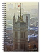 Battersea Power Station And Victoria Tower London Spiral Notebook