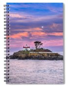Battery Point Lighthouse And Moon Spiral Notebook