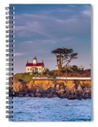 Battery Point Lighthouse Morning Spiral Notebook
