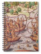 Battle Between Indian Tribes Spiral Notebook
