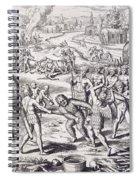 Battle Between Tuppin Tribes Spiral Notebook