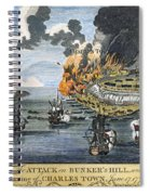 Battle Of Bunker Hill, 1775 Spiral Notebook