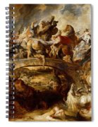 Battle Of The Amazons Spiral Notebook