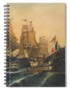Battle Of Trafalgar Spiral Notebook