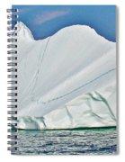 Batwing Iceberg In Saint Anthony Bay-newfoundland-canada  Spiral Notebook