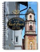 Bavarian Bakery Sign  Spiral Notebook