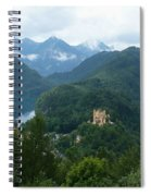 Bavarian Lake With Castle Spiral Notebook