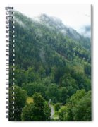 Bavarian Mountain Slope With Mist Spiral Notebook