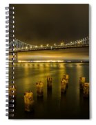 Bay Bridge And Clouds At Night Spiral Notebook