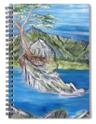 Bay View In Oregon Spiral Notebook