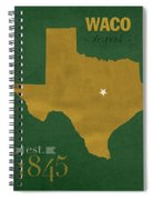 Baylor University Bears Waco Texas College Town State Map Poster Series No 018 Spiral Notebook