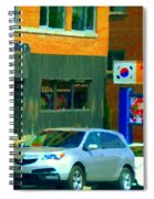 Bbq Coreen Korean Resto Cavendish St Jacques Montreal Summer Cafe City Scene Carole Spandau Spiral Notebook