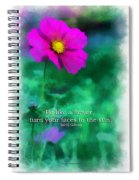Be Like A Flower 01 Spiral Notebook