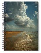 Beach And Clouds Spiral Notebook