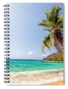 Beach And Palm Tree Spiral Notebook
