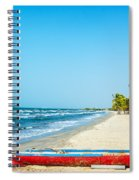 Beach And Red Canoe Spiral Notebook