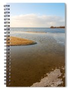 Beach And Rippled Water At The Wadden Sea. Spiral Notebook