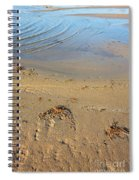 Beach And Rippled Water. Spiral Notebook