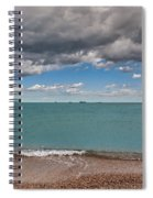 Beach And Ships. Spiral Notebook
